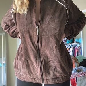 Oversized brown jacket